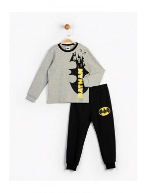Batman Erkek Çocuk Gri Takım 16629