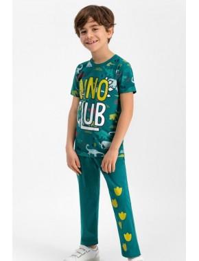 Erkek Çocuk Kısa Kol Uzun Pantolon Pijama Takım RP1631