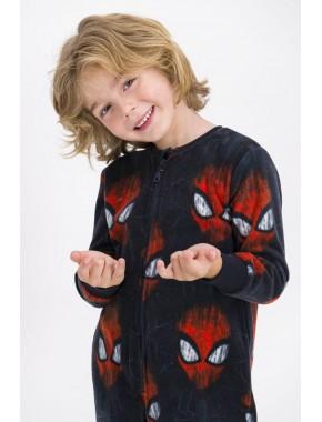 Erkek Çocuk  Koyu Lacivert Spider Man Lisanslı  Polar Tulum