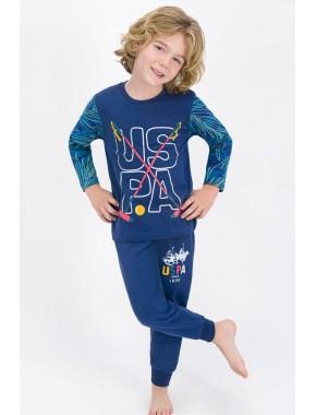 Erkek Çocuk Lacivert  Lisanslı  Pijama Takımı