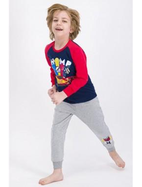 Erkek Çocuk Lacivert Pijama Takımı