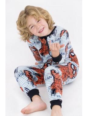 Erkek Çocuk Spider Man Lisanslı Kırmızı Erkek Çocuk Polar Tulum