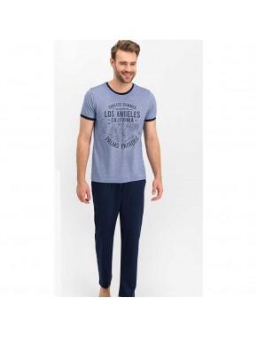 Erkek Los Angeles Mavimelanj Pijama Takımı AR617-S
