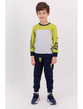 Fıstık Yeşili Erkek Çocuk Eşofman Takımı