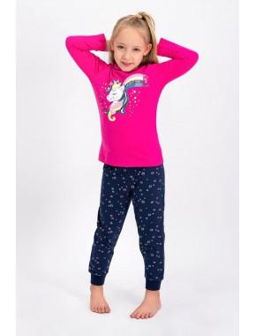 Fuşya Lisanslı Kız Çocuk Pijama Takımı