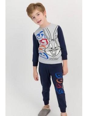 Grimelanj Erkek Çocuk Ribanalı Pijama Takımı