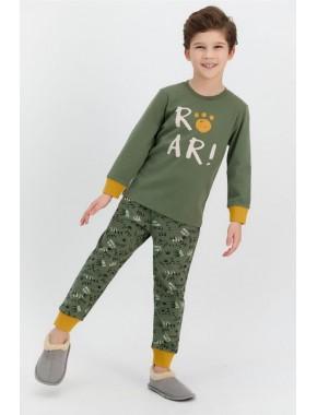 Haki Erkek Çocuk Pijama Takımı
