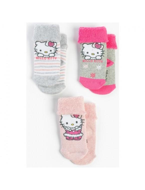 Hello Kitty Bebek 3'lü Bebek Çorap 13810