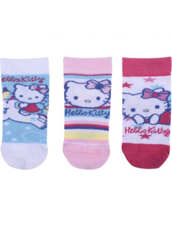 Hello Kitty Bebek 3'lü Çorap 12461