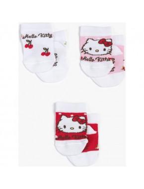 Hello Kitty Bebek 3'lü Çorap 12955