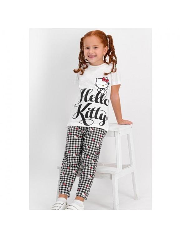 Hello Kitty Lisanslı Krem Kız Çocuk Pijama Takımı