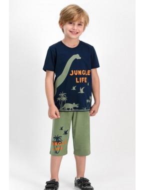 Jungle Life Lacivert Erkek Çocuk Kapri Takım RPOLY16551