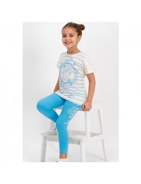 Karlar Ülkesi - Frozen Lisanslı Vanilya Kız Çocuk Tayt Pijama Takım