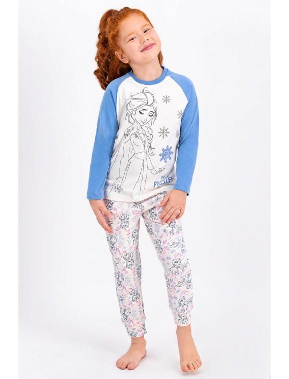 Karlar Ülkesi Frozen Lisanslı Vanilya Lisanslı Kız Çocuk Pijama Takımı