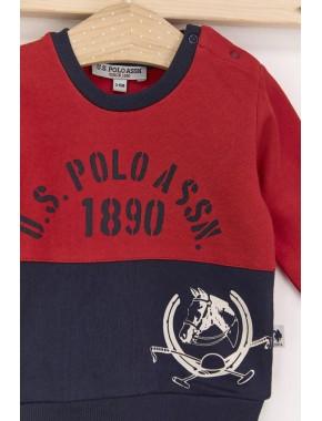 Kırmızı Erkek Bebek Eşofman Takımı