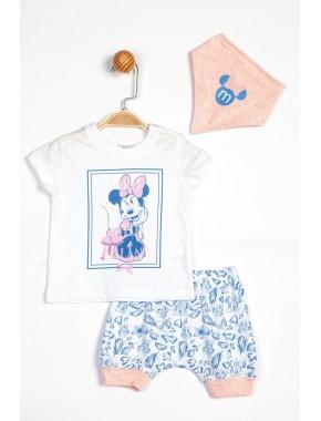 Kız Bebek Disney Minnie Mouse 3lü Takım 13929