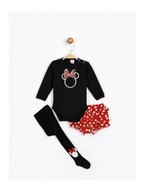 Kız Bebek Siyah Çoraplı Bebek Takımı 16062