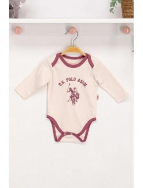 Kız Bebek Vanilya Uzun Kol Body Zıbın