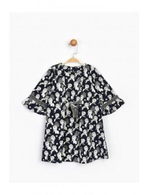 Kız Çocuk Fiyonklu Elbise 16267