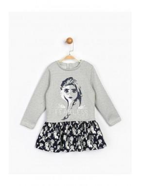 Kız Çocuk Gri Elbise 16268