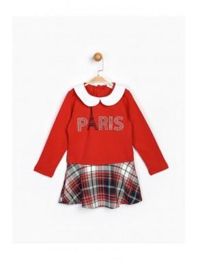 Kız Çocuk Kırmızı Elbise