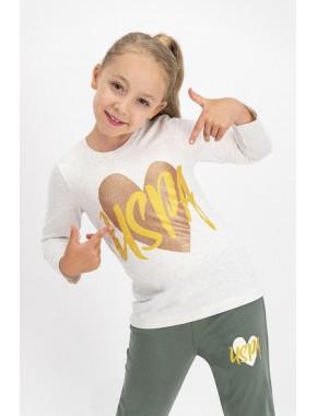 Kız Çocuk Kremmelanj Lisanslı Pijama Takımı