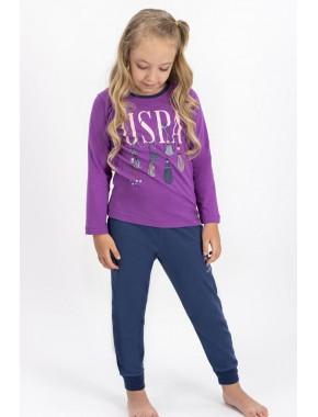 Kız Çocuk Mor Lisanslı Pijama Takımı