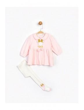 Kız Çocuk Pembe Elbise 16107
