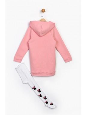 Kız Çocuk Pembe Minnie Tunik Elbise Ve K. Çorap 16145