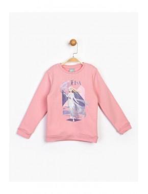 Kız Çocuk Pembe Sweatshirt 17225