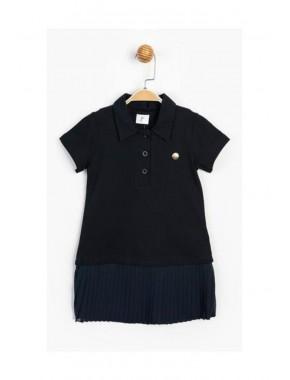 Kız Çocuk Pike Kumaş Pilise Elbise T20Y15772PNL01