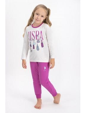 Kız Çocuk Us Polo Assn Pijama Takımı
