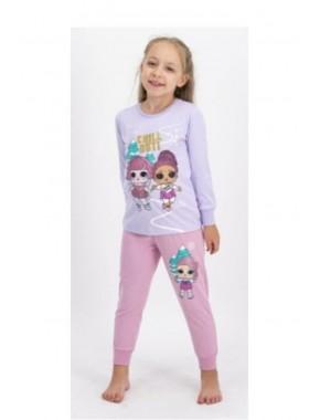 Kız Çocuk Uzun Kollu Pijama Takımı