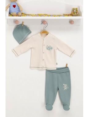 Kız Erkek Bebek Vanilya 3 Parça Takım