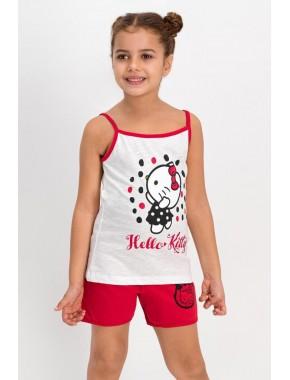 Lisanslı Krem Kız Çocuk Şort Takım L1103-C