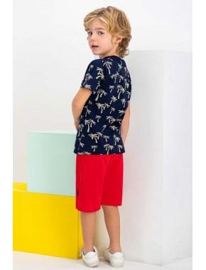 Lisanslı Lacivert Erkek Çocuk Bermuda Takım