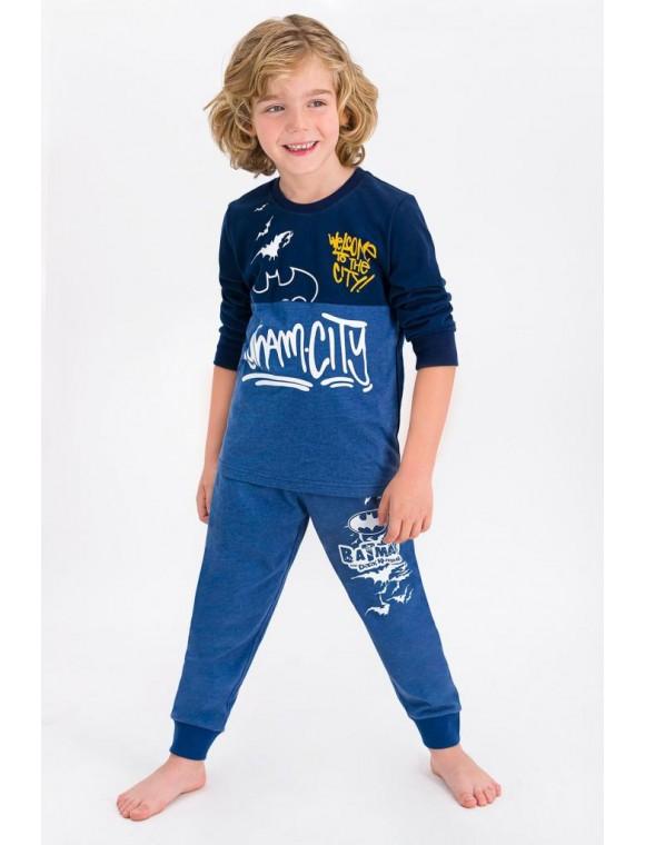 Lisanslı Lacivert Lisanslı Erkek Çocuk Pijama Takımı