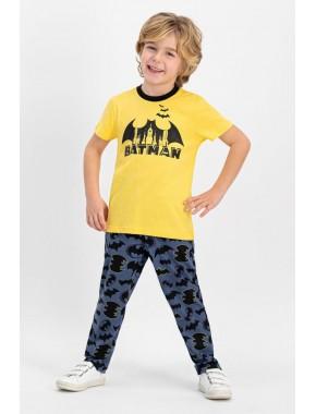 Lisanslı Lisanslı Mimoza Kısa Kollu Erkek Çocuk Pijama Takımı