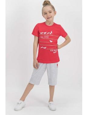 Lisanslı Nar Kız Çocuk Kapri Takım US659-C