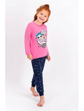 Lisanslı Pembe Lisanslı Kız Çocuk Pijama Takımı