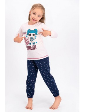 Lisanslı Pembemelanj Lisanslı Kız Çocuk Pijama Takımı