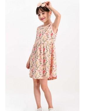 Little Flowers Somon Kız Çocuk Homewear Elbise