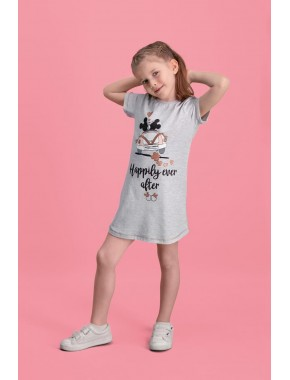 Mickey & Minnie Mouse Lisanslı Açık Gri Kız Çocuk Gecelik D4104-C-V1