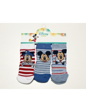 Mickey Mouse 3 lü Çorap 12920