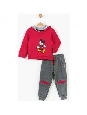 Mickey Mouse Disney Çocuk Kapüşonlu 2'li Takım 14731