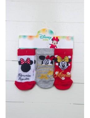 Minnie Mouse 3'lü Soket Çorap 14457