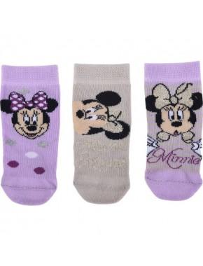 Minnie Mouse Bebek 3'lü Çorap 12415