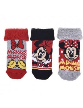 Minnie Mouse Bebek 3'lü Havlu Çorap 12505