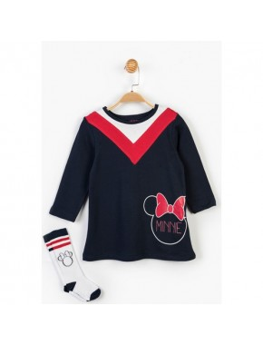 Minnie Mouse Disney Çocuk Elbise ve Çorap 14654
