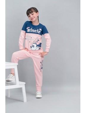 Minnie Mouse Lisanslı Pembe Kız Çocuk Eşofman Takımı